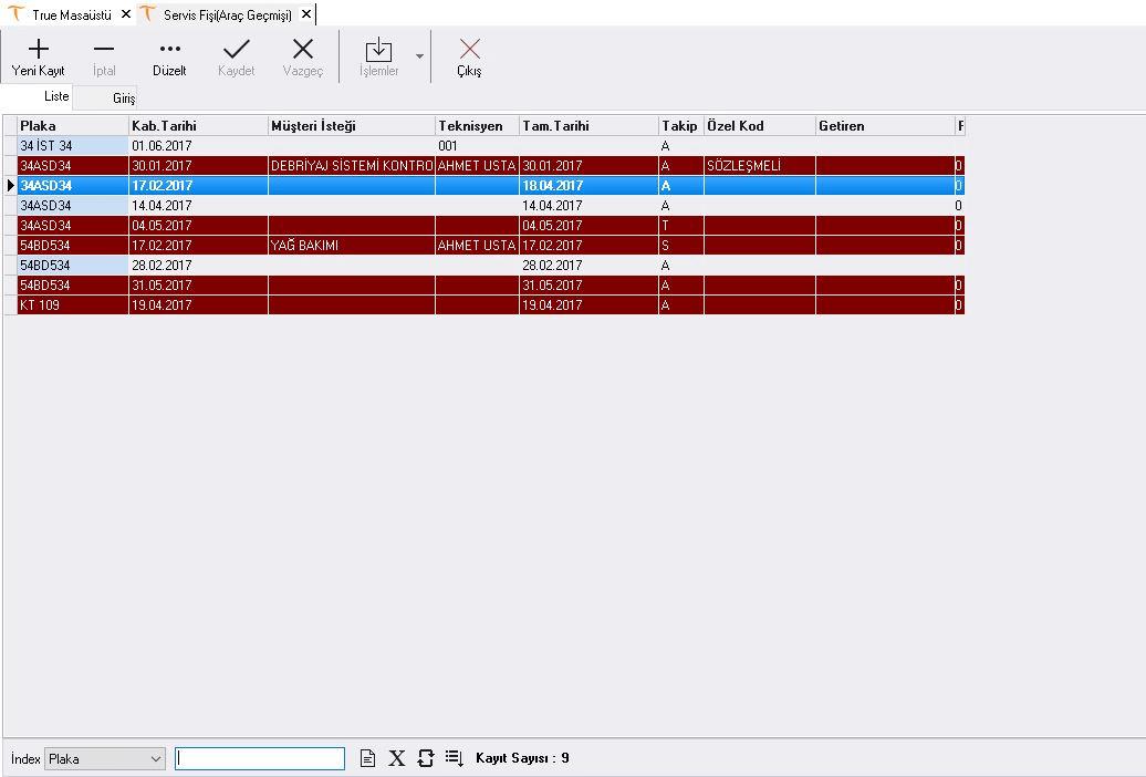 otoservisprogrami-Oto-Arac-Gecmisi
